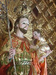 San José y el Niño Jesús, talla estofada del s. XVII