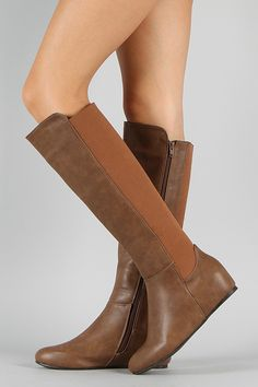 Shoe Republic Felicity Knee High Wedge Boot $41.90