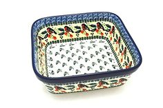 Polish Pottery Baker  Square  Red Robin ** You can find more details by visiting the image link.
