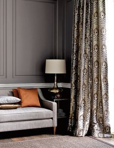 Let's face it, there are really only two reasons for having window coverings. Fabric Display, Interior Decorating, Interior Design, Window Styles, Curtains With Blinds, Window Curtains, Window Coverings, Living Room Decor, Home And Garden