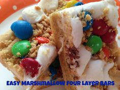 Easy Marshmallow Four Layer Bars