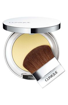 Clinique 'Instant Relief' Mineral Pressed Powder available at Nordstrom.  This is great if you have rosacea or a ruddy complexion!