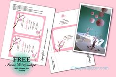Free Printable, Party Printable, Kawaii, Paper Crafts, Kids Crafts, Stationery, Printable: My Cherry Blossom Baby Shower