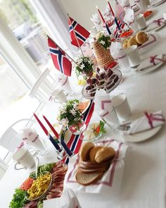 Public Holidays, Holidays And Events, Norwegian Flag, Time To Celebrate, Constitution, Norway, Summertime, Red And White, Food And Drink