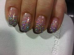 Glitter gradient nail tutorial. love this! wonder how hard it is to do yourself