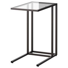VittsjÖ Laptop Stand, Black-brown, Glass