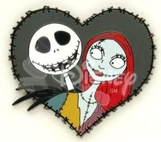 Jack Skellington and Sally black heart pin from our Pins collection Nightmare Before Christmas Wallpaper, Nightmare Before Christmas Tattoo, Creepy Dude, Creepy Art, Sally Skellington, Collage Drawing, Dark And Twisted, Christmas Cartoons, Jack And Sally