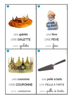 32 cartes vocabulaire galette des rois Grande Section, Petite Section, Class Projects, Projects To Try, Montessori Activities, French Lessons, French Class, Epiphany, Art Education
