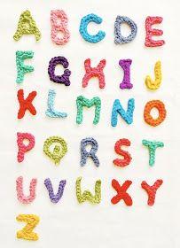free alphabet applique crochet pattern