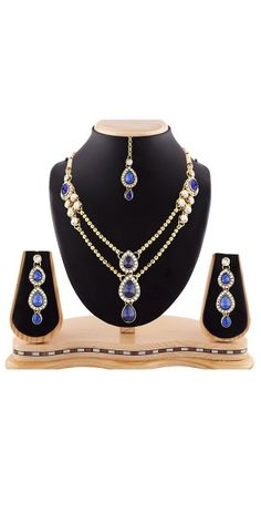 Women's Creative Necklaces in Blue,White And Gold Color.