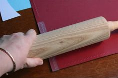 embossing folders and a rolling pin - genius! I never thought of trying that with those border folders. Maybe it wouldn't wrinkle the paper as much.