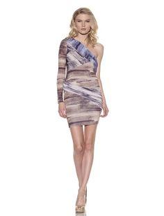 82% OFF Torn by Ronny Kobo Women\'s Paula Draped Dress (Brown Multi)