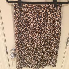 JCrew pencil skirt Cheetah print pencil skirt J. Crew Skirts Pencil