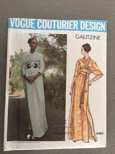 VCD 2482 Galitzine Kimono style Dress Sz14/36/38 cut complete+tag sld 32.89+2.74 7bds 9/20/15