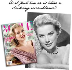 Scarjo looks an awful lot like Grace Kelly for her Vogue cover!