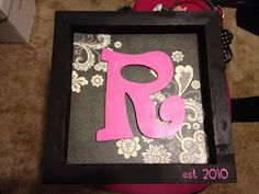 Shadow Box Monogram Sign! Cheap and Easy!
