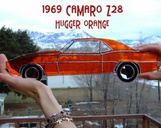 1969 Z28 Camaro: Hugger Orange Stained Glass Muscle Car!
