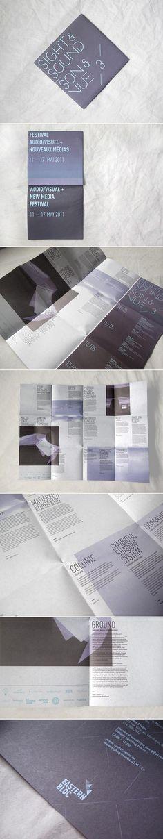 Sight & Sound 3 by Raed Al-Fateh Moussa #brochure #fold