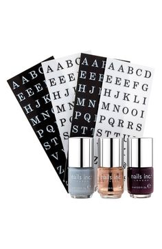 nail inc. London 'Monogram Manicure' Nail Polish Set | Nordstrom would be good to announce something. Nails Inc. London Nail Lacquers #chinaglaze #OPI #nailsinc #dior #orly #Essie #Nubar @opulentnails over 12,000 pins