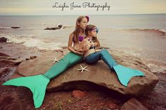 More from the mermaid experts at Fin Fun Mermaid! Mermaid Photo Shoot, Mermaid Pose, Mermaid Pictures, Mermaid Art, Realistic Mermaid Tails, Fin Fun Mermaid Tails, Photography Beach, Fairy Photography, Sibling Photo Shoots