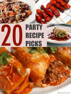 20 Skinny Ms Party Recipe Picks  just in time for summer get togethers! #summer #party #recipes
