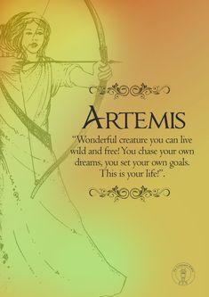 Artemis print, Greek Mythology Goddess of Wild Animals and the Moon Greek Mythology Quotes, Greek Mythology Tattoos, Roman Mythology, Greece Mythology, Greek Goddess Tattoo, Artemis Greek Goddess, Moon Goddess, Artemis Aesthetic, Hunter Of Artemis
