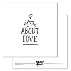 Paperfuel Kaart About Love