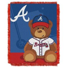 Atlanta Braves Baby Blanket Bedding Throw 36 x 46