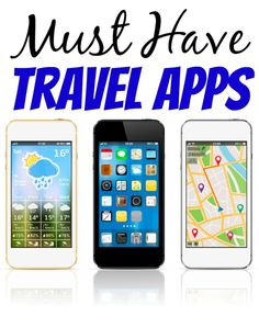 Our Must Have Travel Apps - Don't start out on your next trip with out these must ahve travel apps! Everything from weather to saving money!