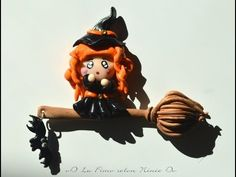 Tuto fimo : la sorcière (polymer clay halloween tutorial : the witch) - YouTube