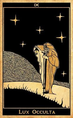 """""""It's your road, and yours alone. Others may walk it with you,  but no one can walk it for you."""" ~Rumi The Hermit Tarot, La Danse Macabre, Le Tarot, Tarot Major Arcana, Tarot Card Decks, Illustration, Oracle Cards, Cool Art, Artwork"""