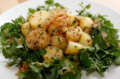 Jean-Georges Vongerichten's Warm Potato Salad with Caramelized Shallots and Watercress Recipe