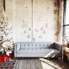 A Fun, Festive Laidback Setup With Our Popular Atwood Sofa By The Team At  Retro Den Tulsa. | Gus* Modern