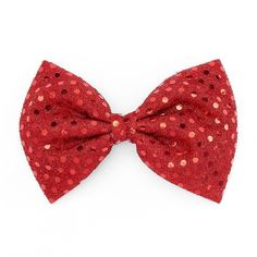Red Sequin Bow Hair Clip (€4,51) ❤ liked on Polyvore featuring accessories, hair accessories, red, barrette hair clips, hair clip accessories, sparkly hair accessories, bow hair accessories and snap hair clips