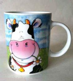 Cute Cow in Pasture coffee mug.