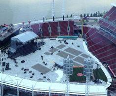 OTRTour Stage Set At Great American Ball Park Cincinnati Ohio 28.06.2014