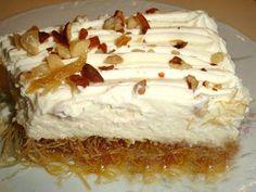 ΜΑΓΕΙΡΙΚΗ ΚΑΙ ΣΥΝΤΑΓΕΣ: Εκμέκ Κανταίφι !!! Greek Desserts, Greek Recipes, Vanilla Cake, Deserts, Sweet, Food, Cakes, Vintage, Candy