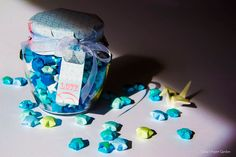 Paper wedding aniversary present - Lucky stars in a jar