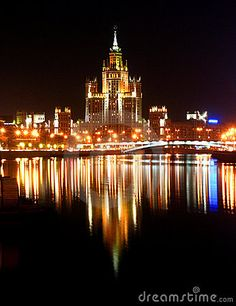 Moscow+At+Night | Moscow At Night Stock Photos - Image: 3382233