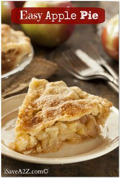 I absolutely love recipes like this Easy Apple Pie Recipe that make it look like you were baking all day....but are actually pretty easy!