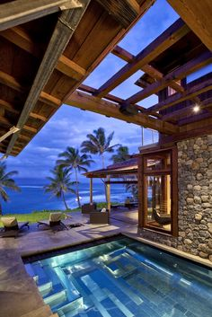 Paia House - Maui, Hawaii - Gorgeous pool overlooking an awesome view of the ocean.