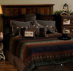 Mustang Canyon Deluxe Western Bed Ensemble Set (WD-2038)