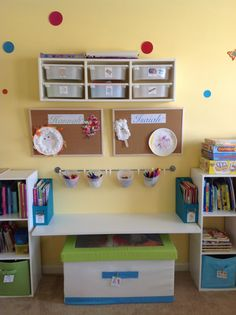 I love using Ikea pieces for my clients… especially in play rooms!  Art & Craft Station AFTER (www.SimplifiedByBobbie.com)