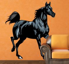 This great Black Stallion wall decal is a must have for all horse lovers!