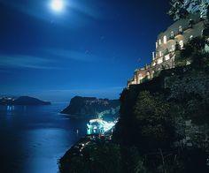 Night time view of Capri
