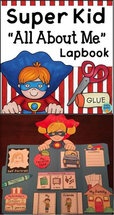 All About Me lapbook craftivity - includes girl and boy versions