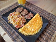 [Homemade] Sausage Patties Hash browns and Omelette http://imgur.com/a/FKDqY