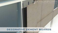 Decorative Cement Board Walls ***