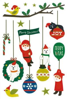 today from Decole Japan comes a selection of seasonal Christmas designs print & pattern