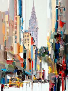 What is Your Painting Style? How do you find your own painting style? What is your painting style? New York Painting, City Painting, Oil Painting On Canvas, Urban Painting, Knife Painting, Abstract City, Abstract Canvas, Abstract Paintings, Cityscape Art